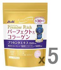 Lot5! Asahi perfect collagen powder Premier Rich, 228g pack x 5 (=total 150day)