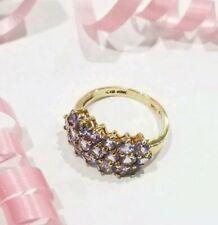 Gorgeous Designer Cid Clyde Duneier 10k YG Tanzanite Cluster Ring #7.5