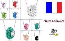 Lot de 5 colliers shamballa charme revendeur NEUF bijoux FRANCE