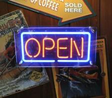"""Open"" Acrylic Box Neon Sign 14""x6"" Bright Light Stand Hanging Lamp Decor Bar D"