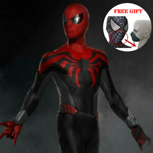 Spiderman or Gladiator warrior bib costume 3pc red stitching Made to Jean size