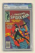 AMAZING SPIDER-MAN #252 Marvel Comics 1984 CGC 9.4 Black Costume 1st Appearance