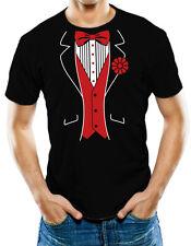 Red Tuxedo 100% Soft Comfortable Cotton T Shirt T-Shirt Tee
