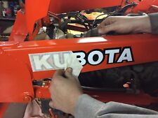 "KUBOTA L BX B series TRACTOR VINYL DECAL STICKER -WHITE w/ black  - 12"" SET OF 2"