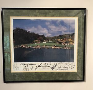 Autographed Four Seasons Resort Aviara Golf Course Picture PGA/Celebrities