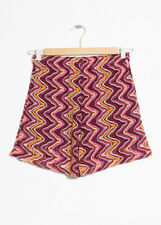 And Other Stories Multicolour Squiggle Crochet Shorts Size 34 New without tags