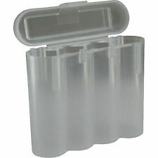 1 Clear 18650 & CR123A 4 Battery Holder Storage Case for 18650 BATTERIES