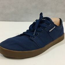 Supra Low Top Sneaker Blue Canvas Skateboarding Raver Shoe Sz 11 Eur 45
