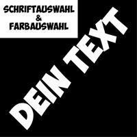 Wunschtext ✔ 60cm ✔ Farbauswahl ✔ Frontscheibenaufkleber ✔ Sticker ✔ Aufkleber ✔