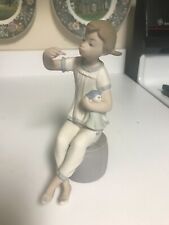 "Superb Retired 7 1/4"" Lladro #1083 Girl With Doll & Lipstick Figurine Matte Mint"