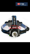 NEW (REAL) 2000LM T6 CREE XML LED RECHARGEABLE HEAD TORCH HEADLIGHT ZOOMABLE