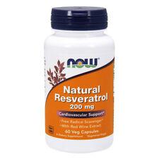 NOW FOODS Resveratrol 200mg 60 Vcaps resveratrolo - Resveratrol