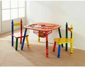 Toddlers Colourful Activity Furniture Set Kids 3pc Table & Chairs-329607
