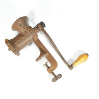 Vintage No. 323 Universal Meat Grinder Chopper Table Counter Mount  Made in USA
