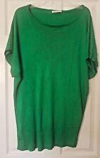 George Ladies Green Sleeveless Jumper TShirt Dress Blouse Top Size UK 16 / 44