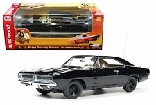 "AUTO WORLD 1:18 1969 DODGE CHARGER GENERAL LEE ""HAPPY BIRTHDAY "" Diecast Car"