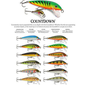 Rapala Countdown // CD03 // 3cm 4g Fishing Lures (Choice of Colors)