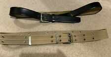 Men's set of 2 Belts - Smart Casual Leather & Fabric Woven in Size L-XL Belts