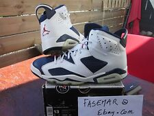 "NIKE AIR JORDAN VI 6 RETRO + ""Olympic ""2000 US13 LEBRON RAY ALLEN OFF-WHITE"