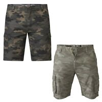 Mens Camo Cargo Shorts D555 Big King Size Army Military Casual Capri Trouser