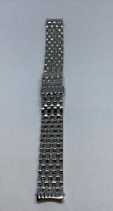 Michele 18GA235009 Deco Silver Stainless Steel 7-Link Bracelet Watch Band WK79