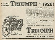 Z0443 Triumph 4.94 HP model de Luxe - Pubblicità del 1927 - Advertising
