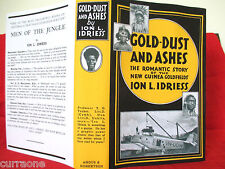 Ion L Idriess GOLD-DUST AND ASHES 1945 Hardcover copy jacket AUSTRALIAN AUTHOR