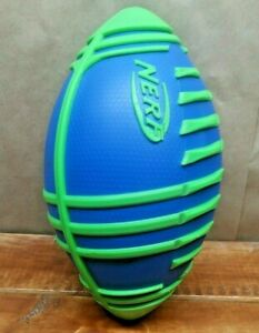 Nerf Sports Weather Blitz Turbo Football (blue), All-weather play By Brand NERF