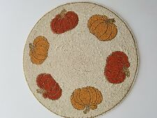 New listing New Nicole Miller Pumpkin Placemat Thanksgiving Fall Placemat Charger (F7)