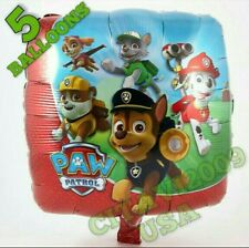 NEW PAW PATROL HELIUM BALLOON SET OF 5 PUPPY PARTY DECORATION USA SELLER