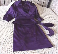 Two piece outfit suit by ATMOSPHERE Dress & jacket Size 8 Purple satin sheen