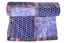 Indian Handmade King Cotton Kantha Quilt Throw rali Blanket Bedspread Patchwork