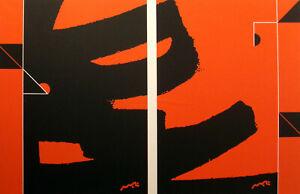 "Matthew Ruddy ""Outer Fix"" Original Paper Collage abstract 1982 fine art OBO"