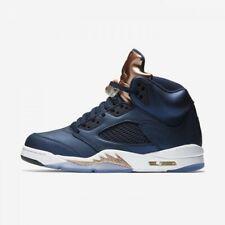 Nike MEN'S Air Jordan V 5 Retro BRONZE SIZE 13 BRAND NEW Obsidian White Metallic