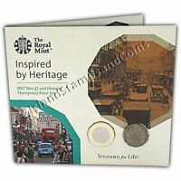 Threepenny & New 12 sided £1 Coin Two Coin Set