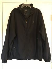 Mens Ashworth Golf Zip Fleece Lined Black Jacket 2XL