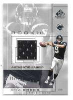 Drew Brees Rookie Card 2001 SP Game Used Edition #93 SN 305/500 GU Saints HOF RC