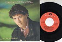 LANFRANCO CARNACINA disco 45 giri MADE in ITALY E camminiamo SANREMO 1986