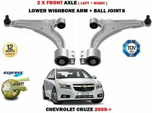 FOR CHEVROLET CRUZE 2009-> 2X FRONT WISHBONE SUSPENSION CONTROL ARM + BALL JOINT