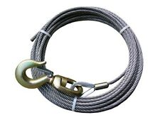 "7/16"" x 200' WINCH CABLE w/ Swivel Hook for WRECKER, TOW TRUCK, CRANE"