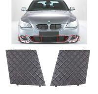 BMW E60 E61 M SPORT FRONT BUMPER LOWER MESH GRILL TRIM COVER PAIR LEFT RIGHT NEW