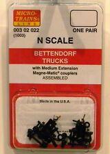 NEW Micro-Trains 00302022 Bettendorf Trucks Medium Extension 1 Pr