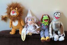 Set of 4 Wizard of Oz Plushe Dolls Nanco Muppets Muppet Show Jim Henson 2005.