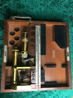 Rare antique Carl Zeiss jena brass microscope with original wooden box