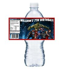 20 AVENGERS PERSONALIZED BIRTHDAY PARTY FAVORS ~ WATER BOTTLE LABELS WRAPPERS