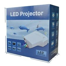 "MINI Projector 10-100"" LED for TV,DVD,PC with SD,USB,AV In VGA,HDMI,CoaxialTV NW"