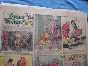 DENVER POST COMIC SECTION SUNDAY April 14,1940  PRINCE VALIANT TWO pages only