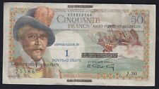 1960 SAINT PIERRE & MIQUELON 50 FRANCS OVERPRINT - P 30 - VF