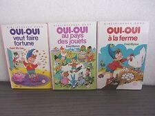 """Lot 3 volumes bibliothèque rose - série """"OUI-OUI"""" - Enid Blyton"""