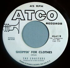 """Hear It 60's Doo-Wop Promo 45 rpm record The Coasters """"Shoppin for Clothes"""" 1960"""